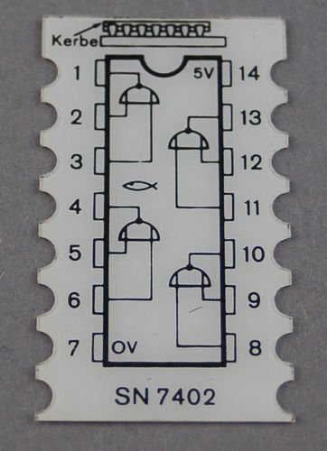 IC-Deckschild NOR 7402